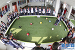 潘卡足球竞技版脚踢式台球教学设备校园足球基础建设室内小型足球场运动器材一手厂家