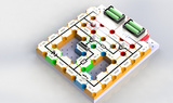 电子积木实验玩具diy科学物理电学实验少儿逻辑 三极管电路实验