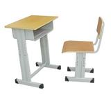 原裝現貨單人升降課桌椅鋼木課桌價格實惠