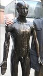 170cm自然大仿現代針灸銅人模型,全銅制造針灸銅人模型-上海中弘公司