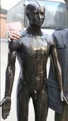 170cm自然大仿现代针灸铜人模型,全铜制造针灸铜人模型-上海中弘公司