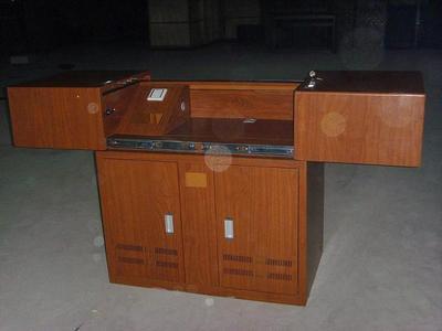 单层平推木转印讲台