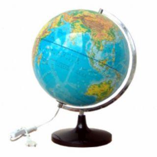 教学仪器招投标平面两用地球仪(带灯政地两用)