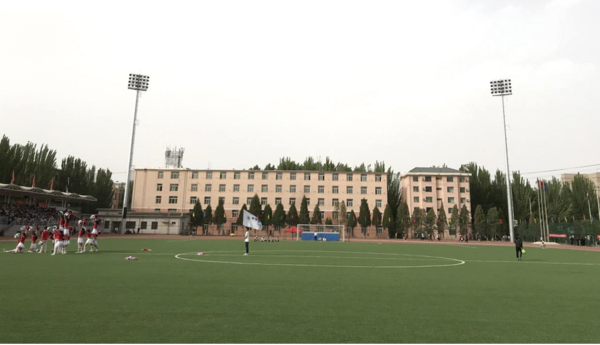 内蒙古包头师范学院升级体育场照明系统