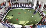潘卡足球競技版腳踢式臺球教學設備校園足球基礎建設室內小型足球場運動器材一手廠家