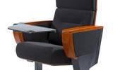 广东礼堂椅 报告厅座椅 连排课桌椅生产厂家 带小桌板