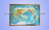 教学仪器-平面模型-世界地形