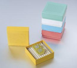 2英寸,100格,彩色紙冷凍盒,蓋上有書寫區域