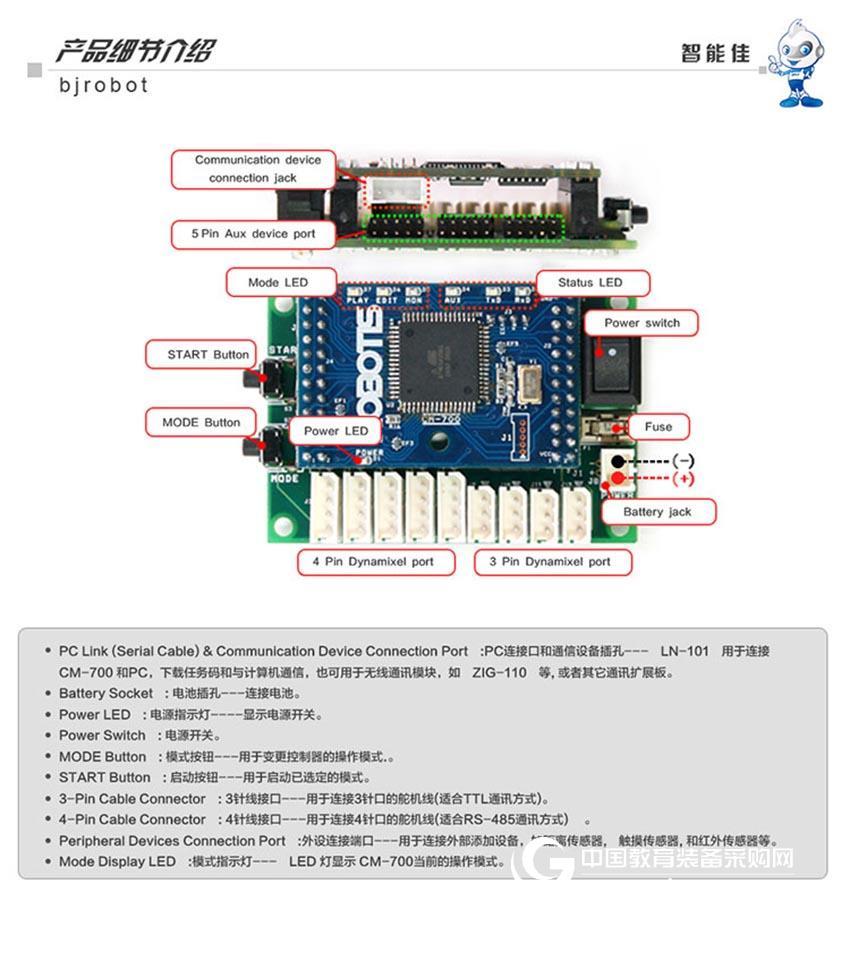 智能佳 Bioloid CM-700控制板 达尔文智能机器人控制器 配件