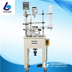上海保玲廠家直銷SF-1-5L雙層玻璃反應釜,單層玻璃反應釜,反應器