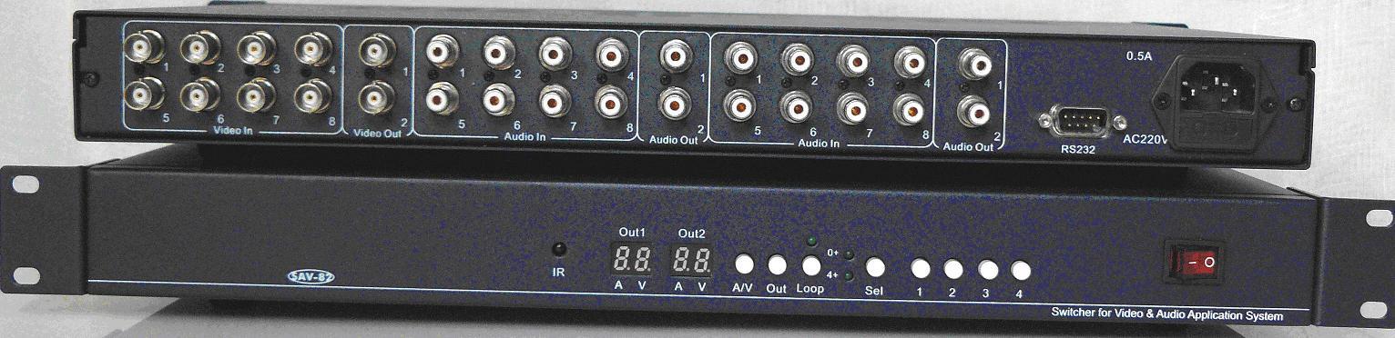 8进2出音视频切换器
