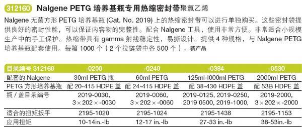 美国Nalgene无菌方形培养基瓶2019-0030 2019-0060 2019-0125