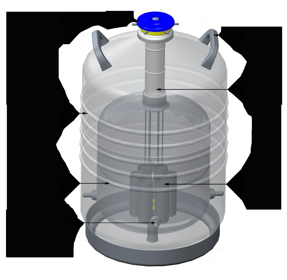 YDS-20B  运输专用铝合金液氮罐