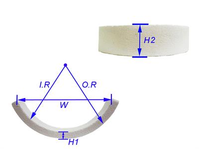 高纯度氧化铝变径环