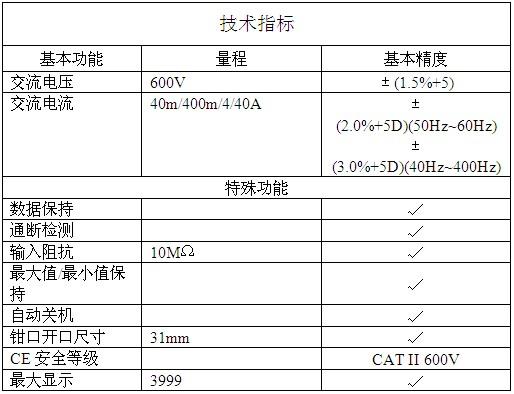 漏电流钳型表ET-3500A